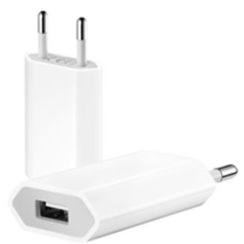 Charger für Apple USB Power Adapter 2 Pin mit CE, 1000mAh, white,  Bulk
