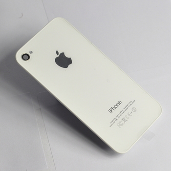 Apple Akkudeckel für iPhone 4, white, Bulk