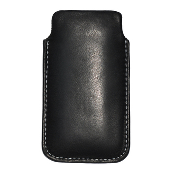 Forcell Case, Leather, Slim Deluxe für iPhone 5, black, Bulk
