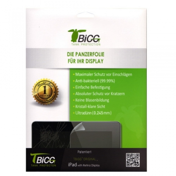 TBIGG Screen Protector for Apple iPad 2/3/4 (Front x1), Blister
