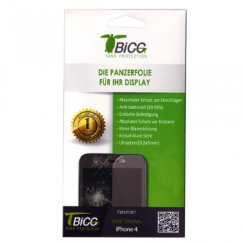 TBIGG Screen Protector for Apple iPhone 4/4S (Front x1 Back x1), Blister (EOL)