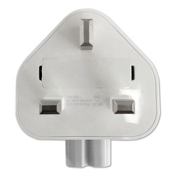 Adapter AC-Plug-Adapter, UK, white, Bulk