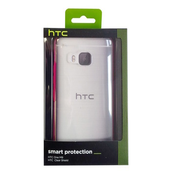 HTC Hard Cover 99H20111-00 HC C1153 for ONE M9, transparent/pink, Blister