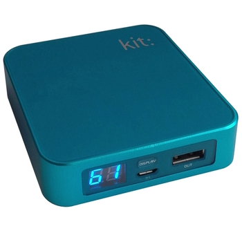 Kit: Power Bank PWRP6BLKT 6000 mAh, Micro-, Mini-USB, Apple 30-Pin, blue, Blister