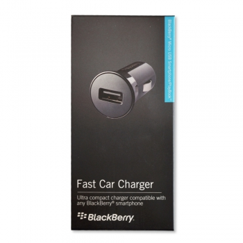 Blackberry Car Charger ASY-46705-003, with cable Micro USB, Blister