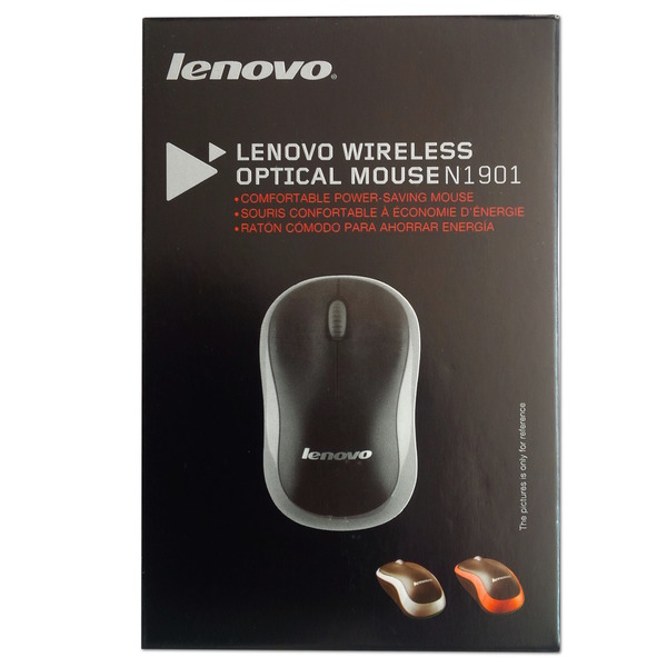 Lenovo Wireless Optical Mouse N1901, grey, Blister